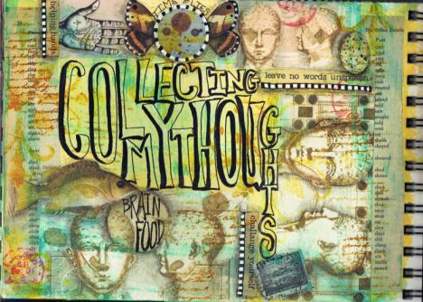 """Collecting My Thoughts"" Journal Page by Pam Carriker"