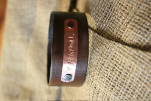 YBNRML Leather Cuff Bracelet SIGNED by Michele!