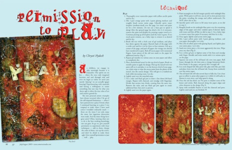Article in the July/August 2009 Somerset Studio